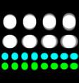 vibrant circle vibrating white cyan green circle vector image