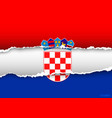 design flag CROATIA from torn papers with shadows vector image vector image