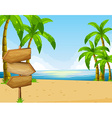 Scene with ocean and beach vector image