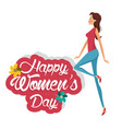 happy womens day cute girl vector image vector image