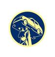 Auto Mechanic Automobile Car Repair Retro vector image