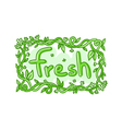 Fresh doodle decorative label vector image