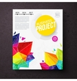Colorful geometric business report design template vector image