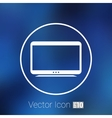 tv icon flatscreen hd lcd vector image