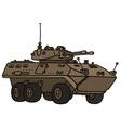 Wheeled armoured vehicle vector image