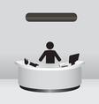 Administrator Receptionist vector image