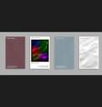artistic covers design creative fluid colors vector image