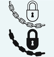 Chain and lock vector image