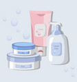 organic cosmetics set package hydration vector image