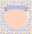 Postcard Lilac snowflakes colorful circles vintage vector image