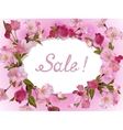 Spring flowers horizontal background vector image