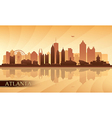 Atlanta city skyline silhouette background vector image