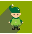 flat icon with long shadow christmas gnome vector image