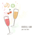 Cocktail card vector image vector image