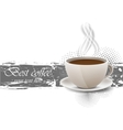 Grunge background with coffe cup vector image