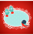 Cute winter invitation xmas card vector image vector image