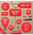 Set of commercial sale and discount stickers vector image
