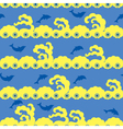 seamless dolphin swimming vector image vector image