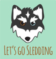 Lets Go Sledding vector image