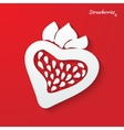 background with strawberries vector image