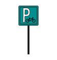 bike parking vector image
