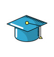 cap graduation to ceremony sucess vector image