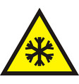 cold warning sign vector image