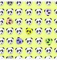 color panda head china design vector image