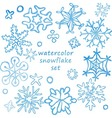 cute snowflakes set vector image