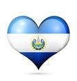 El Salvador Heart flag icon vector image