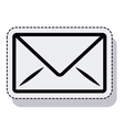 envelope message isolated icon vector image