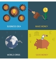 flat design icon set vector image