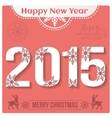 Happy New Year 2015 Christmas Background vector image