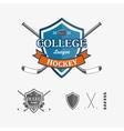 Hockey sports emblems and symbols for team logo vector image