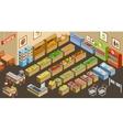 Isometric supermarket vector image
