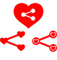 love share icons vector image