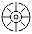 sport target icon simple style vector image