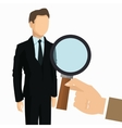 businessman human resources business icon vector image