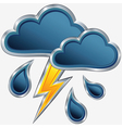 icon of storm weather vector image