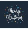 Merry Christmas handwritten lettering inscription vector image