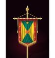 Flag of Grenada Festive Vertical Banner vector image