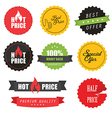 Set of commercial sale stickers and labels vector image vector image