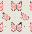 butterfly pattern nature insect background vector image