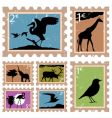 animal stamps vector image