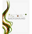 Green eco nature wave background vector image vector image