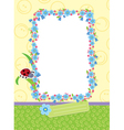 floral child frame vector image