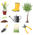 gardening icons set - vector image vector image