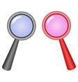 magnifying glasses vector image vector image
