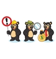 Black Bear Mascot with sign vector image