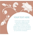Floral romantic card with white silhouettes of vector image